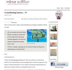Minor edition blog competition entry