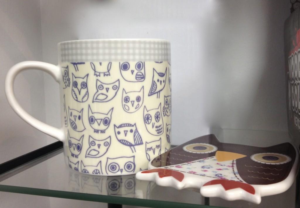 NikNakNoo's owl mug & coaster